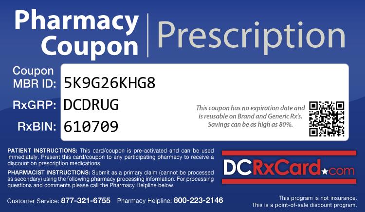 DC Rx Card - Free Prescription Drug Coupon Card